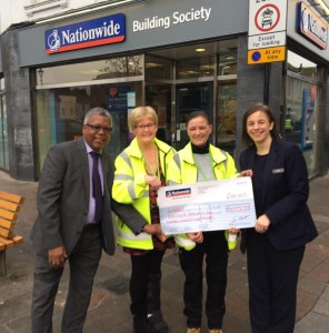 Hayley & Joyce from SHAX with Nationwide manager Katriona and member Judex